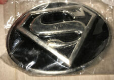 SUPERMAN BLACK AND SILVER BELT BUCKLE IN BRAND NEW CONDITION