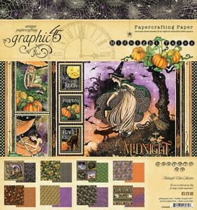 """Graphic 45 Midnight Tales 8 x 8"""" Paper Pad - Halloween Papers"""