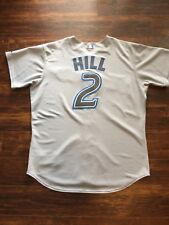 Toronto Blue Jays Aaron Hill Signed Majestic Authentic Jersey Size 52
