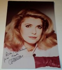 "CATHERINE DENEUVE /  7.75 x 11.5""  AUTOGRAPHED  COLOR  PHOTO"