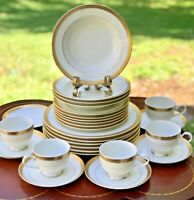 MIKASA Palatial Gold L3234 China/Dinnerware 27 Pc Dinner/Salad Plates Bowls C&S