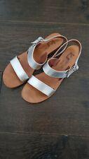 K JACQUES sandales 38 Argent Timeless Cuir £ 280