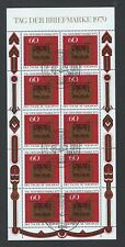Scott B564 / Michel 1023: Germany 1979 Stamp Day Miniature Sheet of 10, VF-CDS