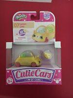 NEW SERIES SHOPKINS CUTIE CARS #07 Lemon Limo DIE CAST  + MINI SHOPKIN  *