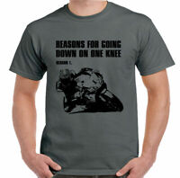 Biker T-Shirt Mens Funny Motorbike Motorcycle Reasons For Going Down On One Knee