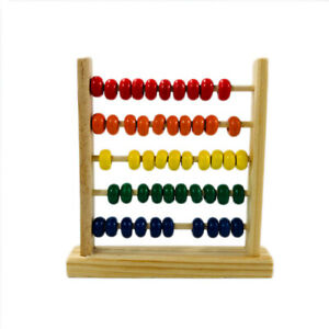 Wooden Abacus Counting Number Kids Math Learning Teaching Toy Kids Gift