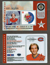 2002 Canada Post NHL All-Stars, Canadiens' Guy Lafleur Laminated Stamp Card
