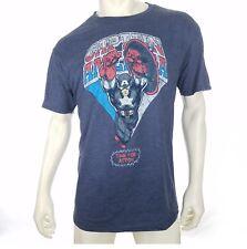 Captain America Men's 2XL T-shirt SS VTG Style Comic Marvel Athletic Fit  NEW