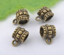 10Pcs antique bronze Bails charms Connectors hole 5X9MM hole3.5mm