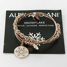Alex and Ani Holiday Snowflake Set Expandable Bracelet Rose-Tone A15HCLSNFLSR