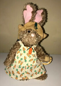 Pickford Brass Button Bears Flora Plush Teddy Dressed Stuffed Collectable