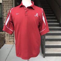 University of Alabama Crimson Tide Polo Shirt Nike Dri-Fit Mens Size Medium