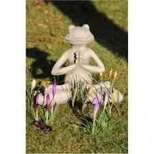 Yoga GRENOUILLE LOTUS que sculpture en pierre pour le jardin ou bureau NEUF