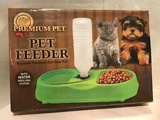 Premium Pet Pet Feeder Blue Plastic Light Weight Portable New In Box