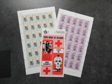 Belgium 1979 Red Cross Full Sheets (2) Stamps 8+3f + 16+8f With Pamphlet Um