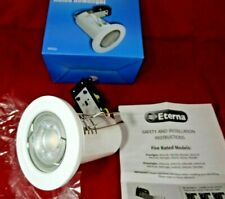 WHITE GU10 Downlight  FIRE RATED WITH WARM WHITE LED  3000K £4.55 POSTED