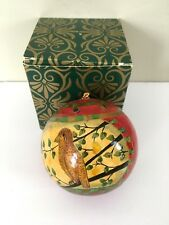 Holiday Tree Ornament Partridge In Pear Tree India W Box