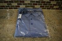 Under Armour US Open Heat Gear  Polo Shirt  Blue/Gray Stripes Men's Size 2XL