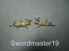 1 Set of Polished Brass Mantis Menuki - Japanese Katana Wakizashi Tanto Sword