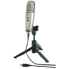 Audio Usb Large Diaphragm Cardioid Condenser Microphone W/Tripod Stand 10 Ft