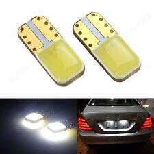 2x T10 W5W COB Blanc LED Numéro de licence Plaque Ampoules Aucune Erreur Canbus