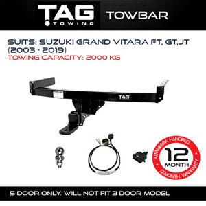 TAG Towbar Fits Suzuki Grand Vitara 2003-2019 Towing Capacity 2000Kg 4x4 4WD