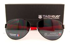 Brand New TAG Heuer Sunglasses LRS 0256 110 BLACK/RED/OUT-GRAY  for Men
