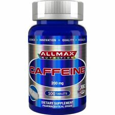 100% Pure Caffeine + Easy-To-Cut in Half Pill, 200 mg, 100 Tablets