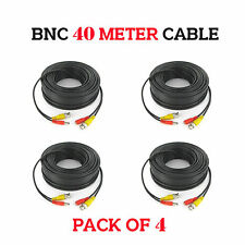 Pack Of 4 BNC Power Cable 40 Meter for  DVR Video DC CCTV Security Camera