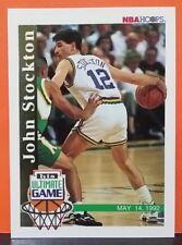 John Stockton card Game 92-93 Hoops #SU1