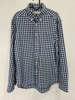 Large - Mens RM Williams Cotton Long Sleeve Button Up Blue Check Shirt