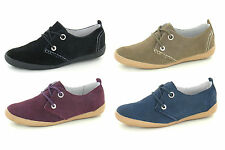 Suede Lace-up Casual Shoes for Women