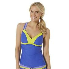 Women's Athletic Tankini Top Reebok Size XL  Blue & Yellow  NEW