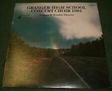 Granger High School Concert Choir 1981 Vinyl~Norman R. Wendel~FAST SHIPPING!