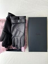 New RAPHA Men's Cycling Leather Town Gloves - Black - Medium