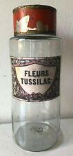 Antico vaso da farmacia/ erboristeria  - barattolo - Fleurs Tussilag