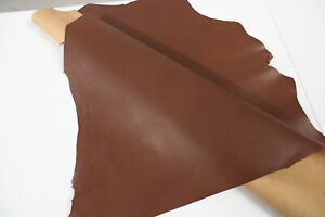 MAHOGANY BROWN GOAT LEATHER HIDE / 5 Square Foot Avg / Thickness 0.9mm to 1.1m