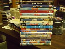 (18) Childrens Animal DVD Lot: (3) Disney Ratatouille Santa Paws Care Bears MORE