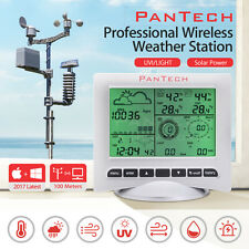 UV Professional Digital Weather Station SolarTransmitter Wireless Indoor Outdoor