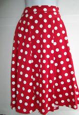 ROCK STEADY Skirt XL High Waisted Twirl Red White Polka Dot Pinup Rockabilly