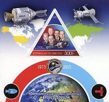 Gibuti 2015 Gomma integra, non linguellato Missione Spaziale Apollo Soyuz 40th ANNIVERSARIO 1v S/S FRANCOBOLLI