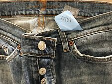"""7 for all mankind size 29 waist 30"""" rise 8"""" hips 38"""" Ins. 31 button fly stretch"""