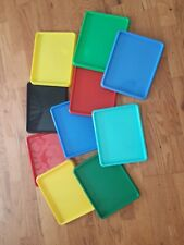 preschool trays. used for counting, snack time, writing. unlimited possibilities