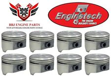 (8) ENGINETECH GM CHEVROLET 350 5.7 DISH TOP PISTONS 1968 - 1995