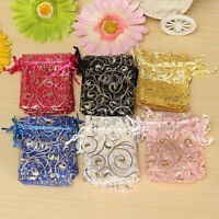 100Pcs Durable Organza Gift Bags Christmas Packing Pouches Wedding Party Favour