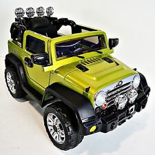 JEEP Wrangler Style For Kids Model JJ235 Ride On Car With Remote Control Green