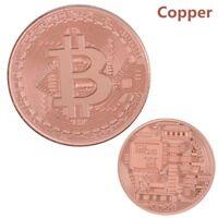 Rare Collectible In Stock New Golden Iron Bitcoin Commemorative Coin Gift