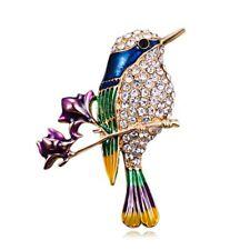 Pin For Women Costume Jewelry Gifts Fashion Crystal Animal Bird Enamel Brooch
