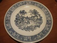 Antique Blue And White China Platter 11""