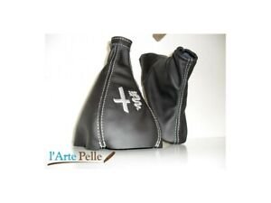 Headphone Lever Rates-Brake Alfa Romeo Mito Black Genuine Leather + Stitch
